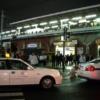 夜の街と駅