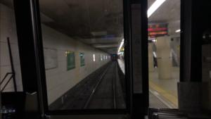 谷町線都島駅入線風景