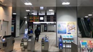 JR鴫野駅改札口