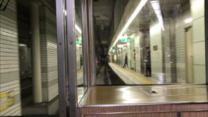 堺筋線阪急車の前面展望