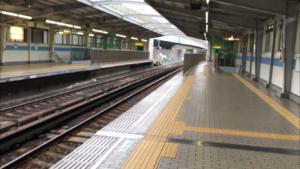 中央線九条駅ホーム